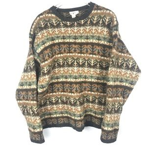 Vintage 90s Bulky Wool J. Crew Sweater XL